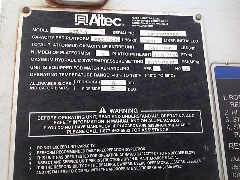 Altec maintenance manual array 2011 ford f550 lot 34476 online only equipment auction 1 19 rh auctionresource com fandeluxe Gallery
